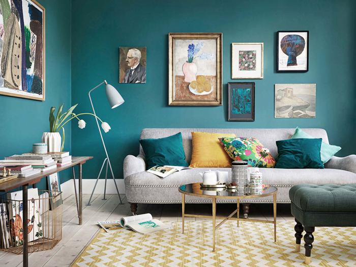 Chicdeco blog moody green and grey interiors for Tapis vert turquoise