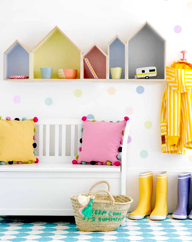 Kids decor ideas gelatto palette storage