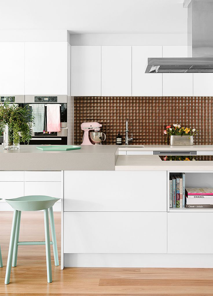 White-kitchen-mint-barstools