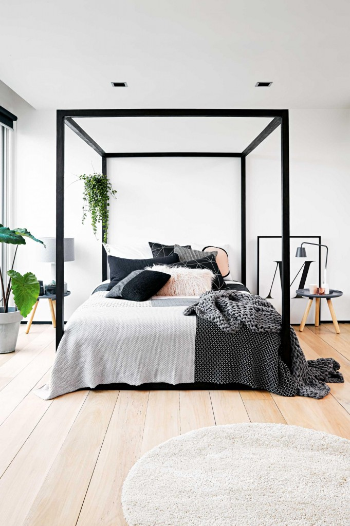 bedroom-modern-white-black-grey