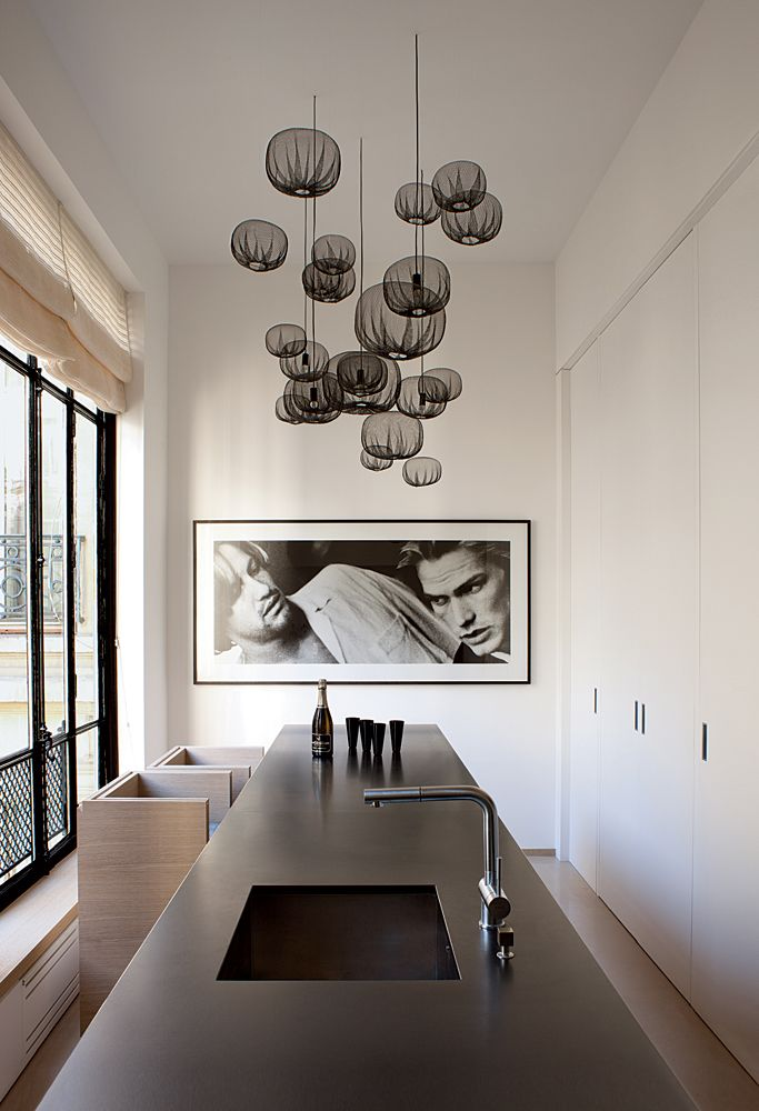 Chicdeco blog lighting your kitchen with pendant lights black pendant lights cluster aloadofball Images
