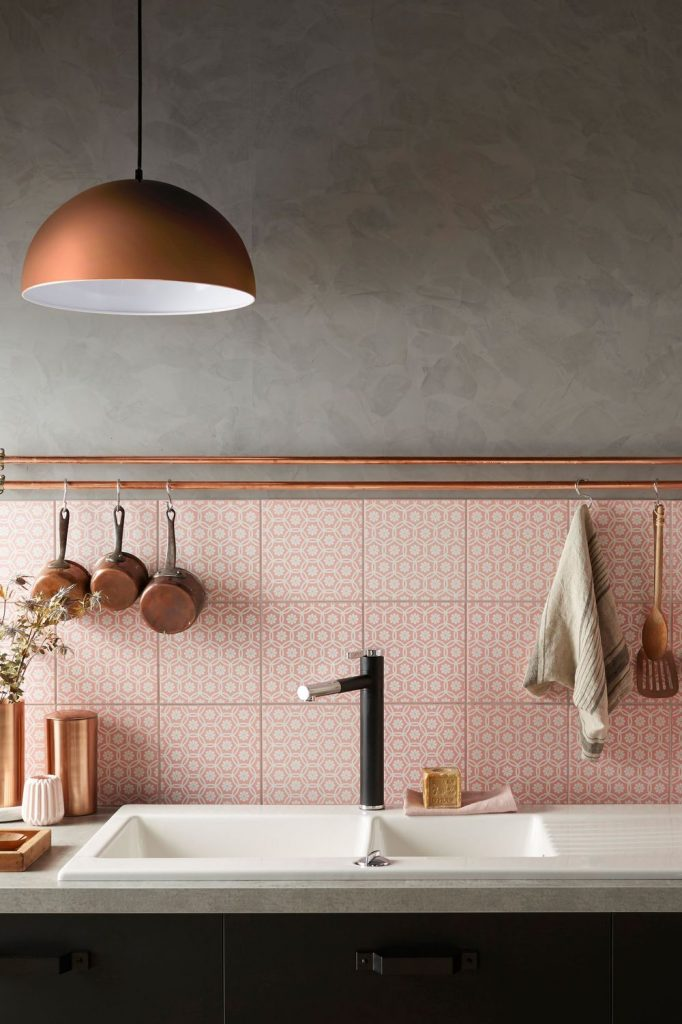 Kitchen trends copper and pink decoration for Cuisine le roy merlin