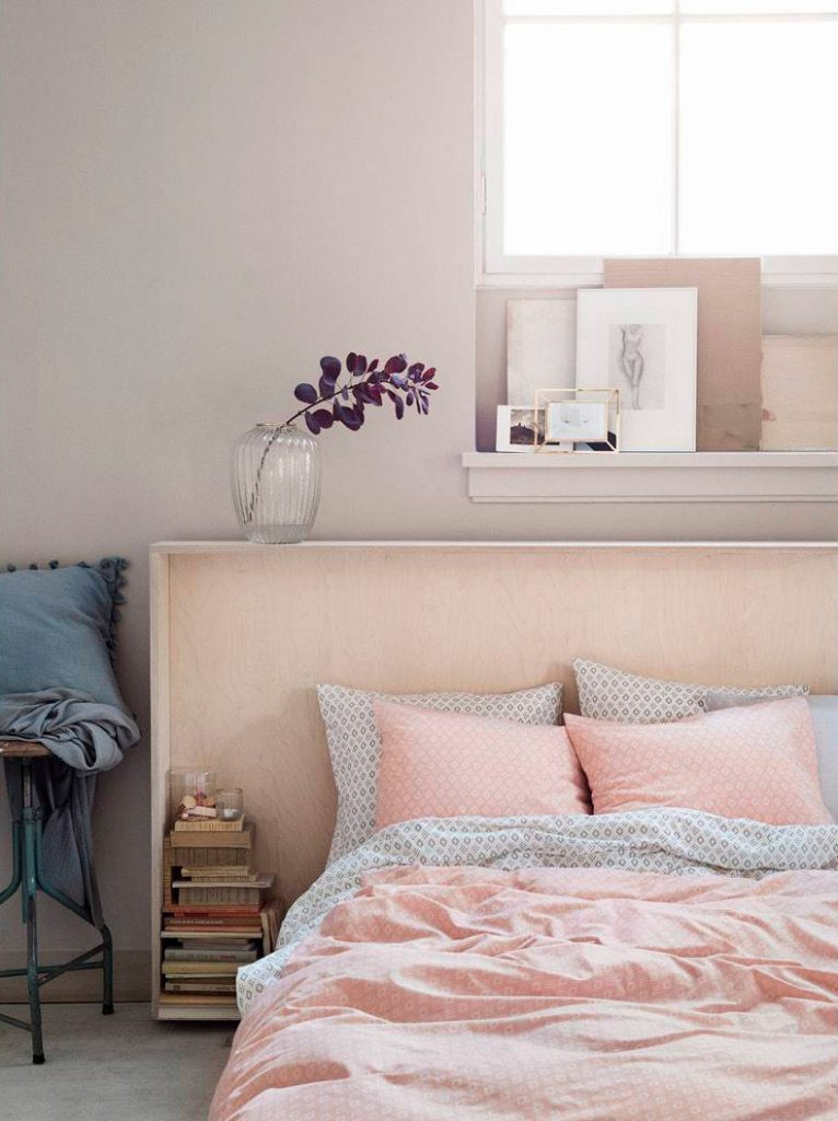 H&M Home pink bed linen