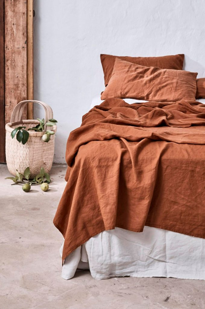 In Bed Tobacco Bed Linen